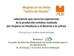 Mujeres en las Artes Leticia de Oyuela