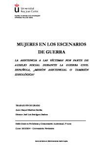 MUJERES EN LOS ESCENARIOS DE GUERRA