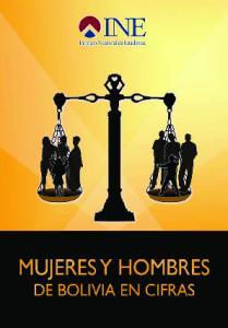 Mujeres y Hombres. de Bolivia en Cifras