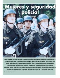 Mujeres y seguridad policial JOSÉ DUQUE QUICIOS