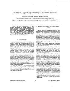 Multdevel Logc Multiplier Using VLSI Neural Network