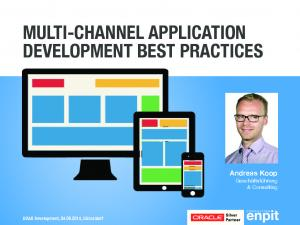 MULTI-CHANNEL APPLICATION DEVELOPMENT BEST PRACTICES