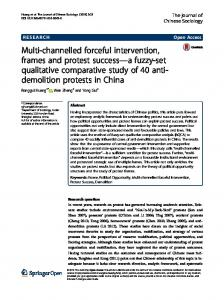 Multi-channelled forceful intervention, frames and protest success a fuzzy-set qualitative comparative study of 40 antidemolition
