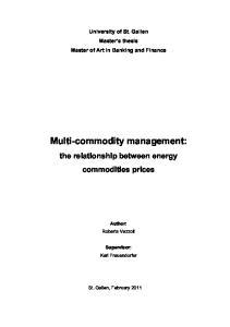 Multi-commodity management: