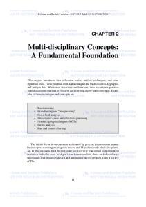 Multi-disciplinary Concepts: A Fundamental Foundation
