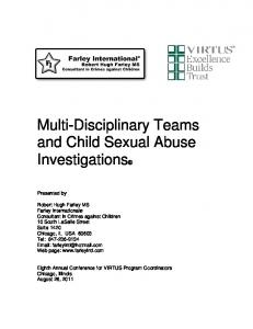 Multi-Disciplinary Teams and Child Sexual Abuse Investigations