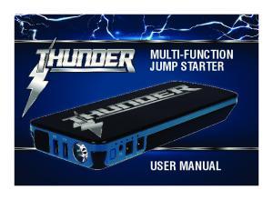 MULTI-FUNCTION JUMP STARTER USER MANUAL