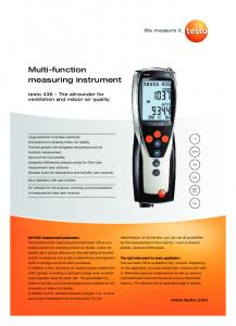 Multi-function measuring instrument