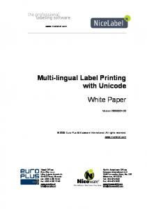 Multi-lingual Label Printing with Unicode