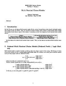 Multi-Nominal Choice Models