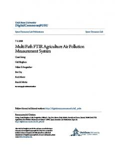 Multi Path FTIR Agriculture Air Pollution Measurement System