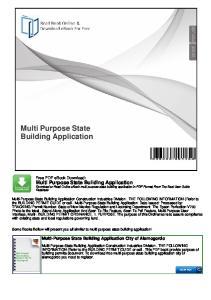 Multi Purpose State Building Application