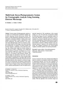 Multi-Scale Stereo-Photogrammetry System for Fractographic Analysis Using Scanning Electron Microscopy