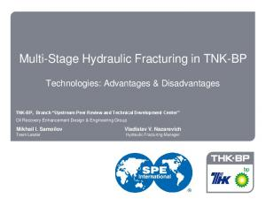 Multi-Stage Hydraulic Fracturing in TNK-BP