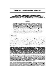 Multi-task Gaussian Process Prediction
