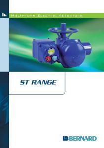 Multi-turn Electric Actuators ST RANGE