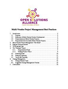 Multi Vendor Project Management Best Practices