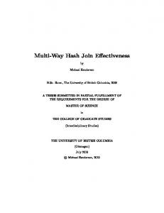 Multi-Way Hash Join Effectiveness