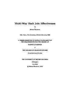Multi-Way Hash Join Effectiveness