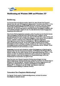 Multibooting mit Windows 2000 und Windows XP