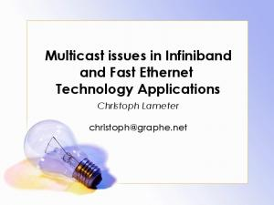 Multicast issues in Infiniband and Fast Ethernet Technology Applications
