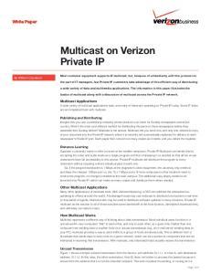 Multicast on Verizon Private IP
