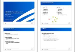 Multicast. Unicast. Broadcast. Anycast. Communication modes. Multicast. Forwarding modes