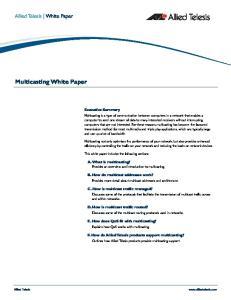 Multicasting White Paper