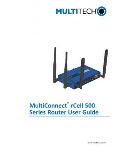 MultiConnect rcell 500 Series Router User Guide