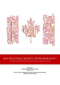 MULTICULTURAL SOCIETY; MYTH OR REALITY?