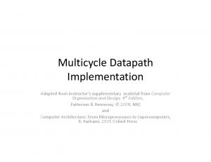 Multicycle Datapath Implementation