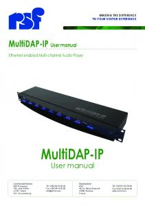 MultiDAP-IP User manual
