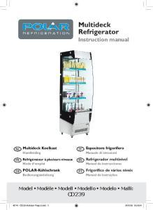 Multideck Refrigerator Instruction manual