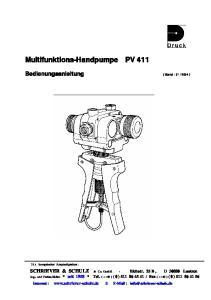 Multifunktions-Handpumpe PV 411