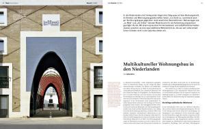 Multikultureller Wohnungsbau in. in den Niederlanden