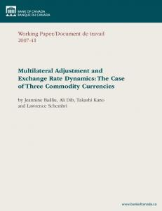 Multilateral Adjustment and Exchange Rate Dynamics: The Case of Three Commodity Currencies