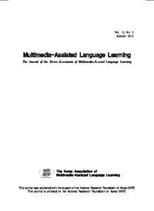 Multimedia-Assisted Language Learning
