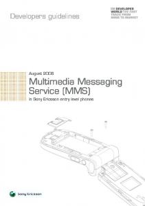 Multimedia Messaging Service (MMS) in Sony Ericsson entry level phones