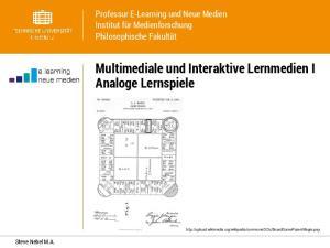 Multimediale und Interaktive Lernmedien I Analoge Lernspiele