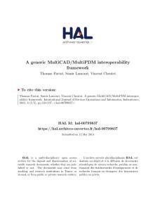 MultiPDM interoperability framework