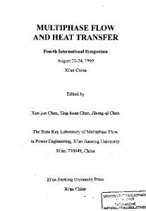 MULTIPHASE FLOW AND HEAT TRANSFER