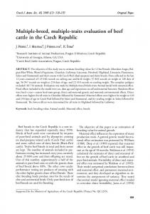 Multiple-breed, multiple-traits evaluation of beef cattle in the Czech Republic