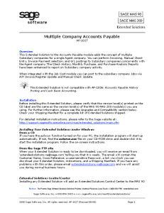 Multiple Company Accounts Payable AP-1027