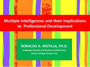 Multiple Intelligences and their Implications to Professional Development
