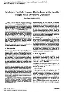 Multiple Particle Swarm Optimizers with Inertia Weight with Diversive Curiosity