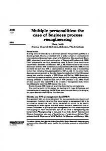 Multiple personalities: the case of business process reengineering
