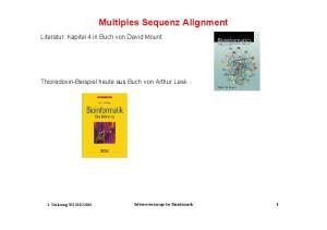 Multiples Sequenz Alignment