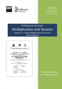 Multiplication and Division Booklet 5.5: Solving Multiplication and Division Word Problems