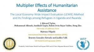 Multiplier Effects of Humanitarian Assistance