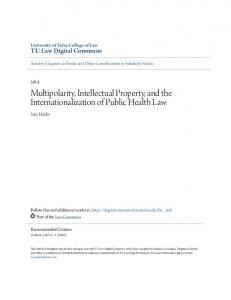 Multipolarity, Intellectual Property, and the Internationalization of Public Health Law